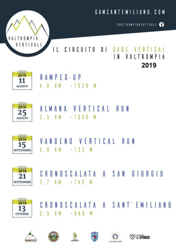 calendario circuito vv 2019